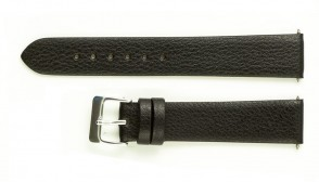 Black leather strap without stiches