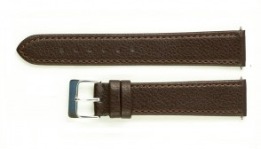 Brown leather strap with light brown stiches